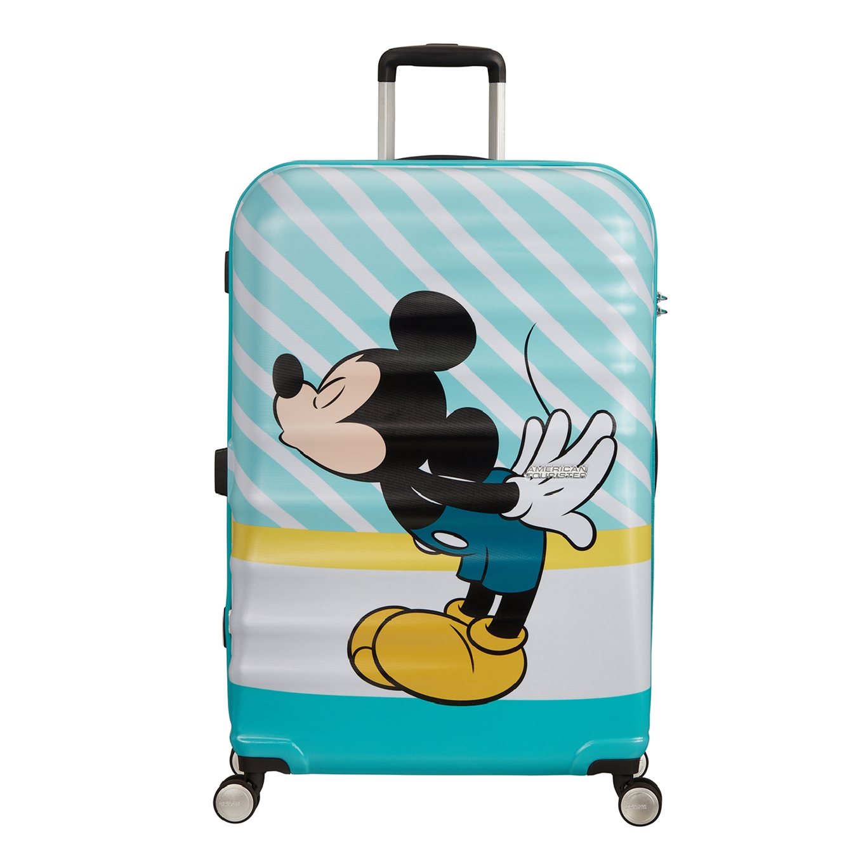 American Tourister Wavebreaker Disney Spinner 77 mickey blue kiss Harde Koffer <br/></noscript><img class=