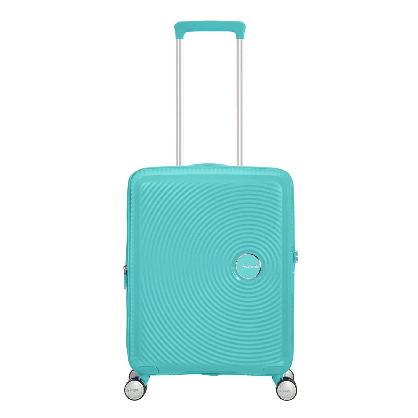 American Tourister Soundbox Spinner 55 Expandable poolside blue Harde Koffer <br/></noscript><img class=