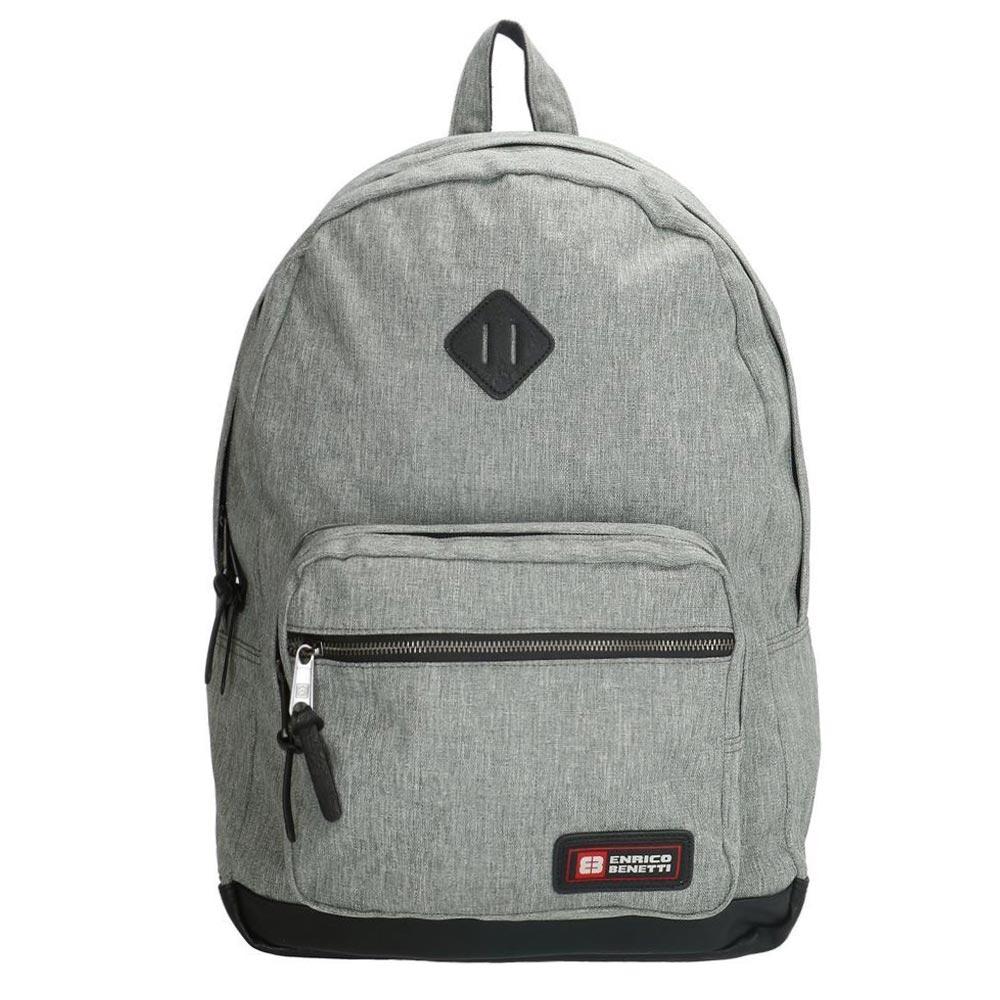 Enrico Benetti Montevideo Laptop Rugzak light grey backpack