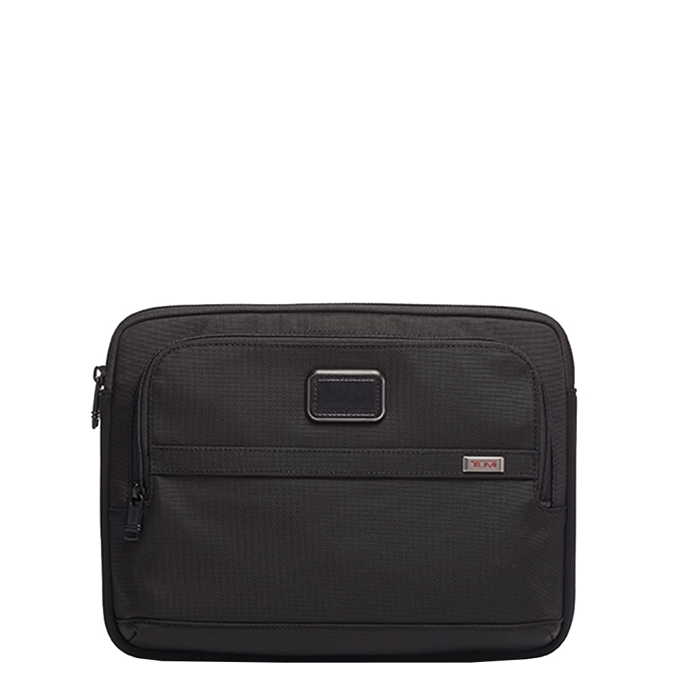 Tumi Alpha Medium Laptop Cover black Laptopsleeve <br/>€ 115.00 <br/> <a href='https://tc.tradetracker.net/?c=15082&m=779702&a=107398&u=https%3A%2F%2Fwww.travelbags.nl%2Ftumi-alpha-medium-laptop-cover-black.html' target='_blank'>Bestellen</a>
