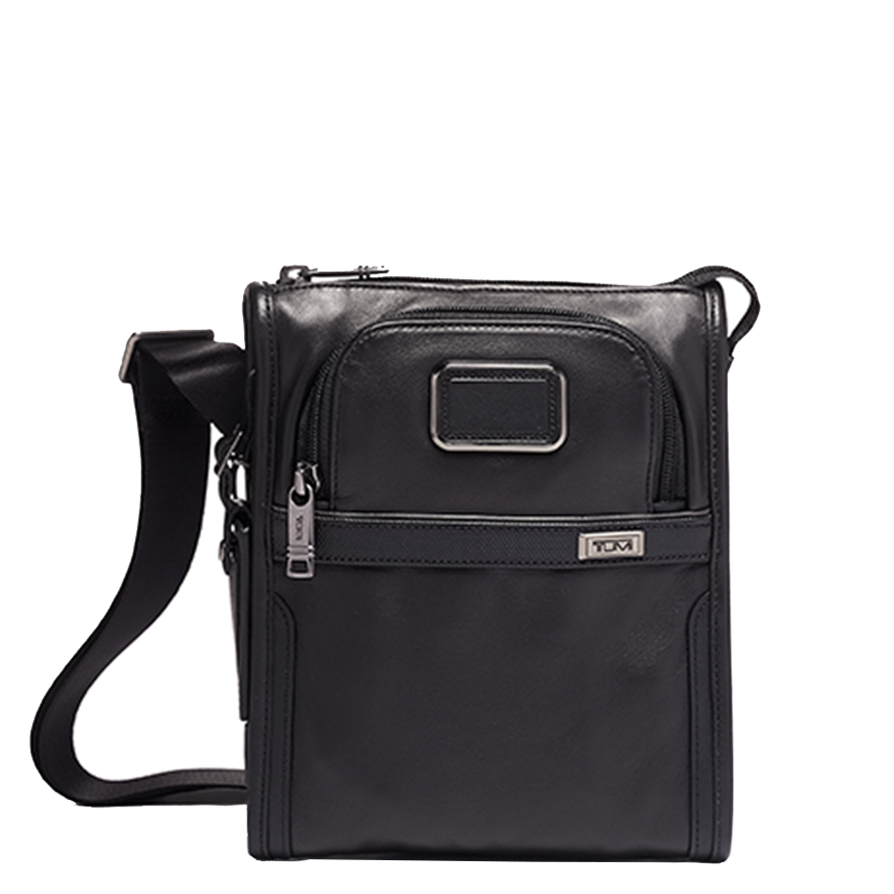 Tumi Alpha Pocket Bag Small Leather black Herentas <br/></noscript><img class=
