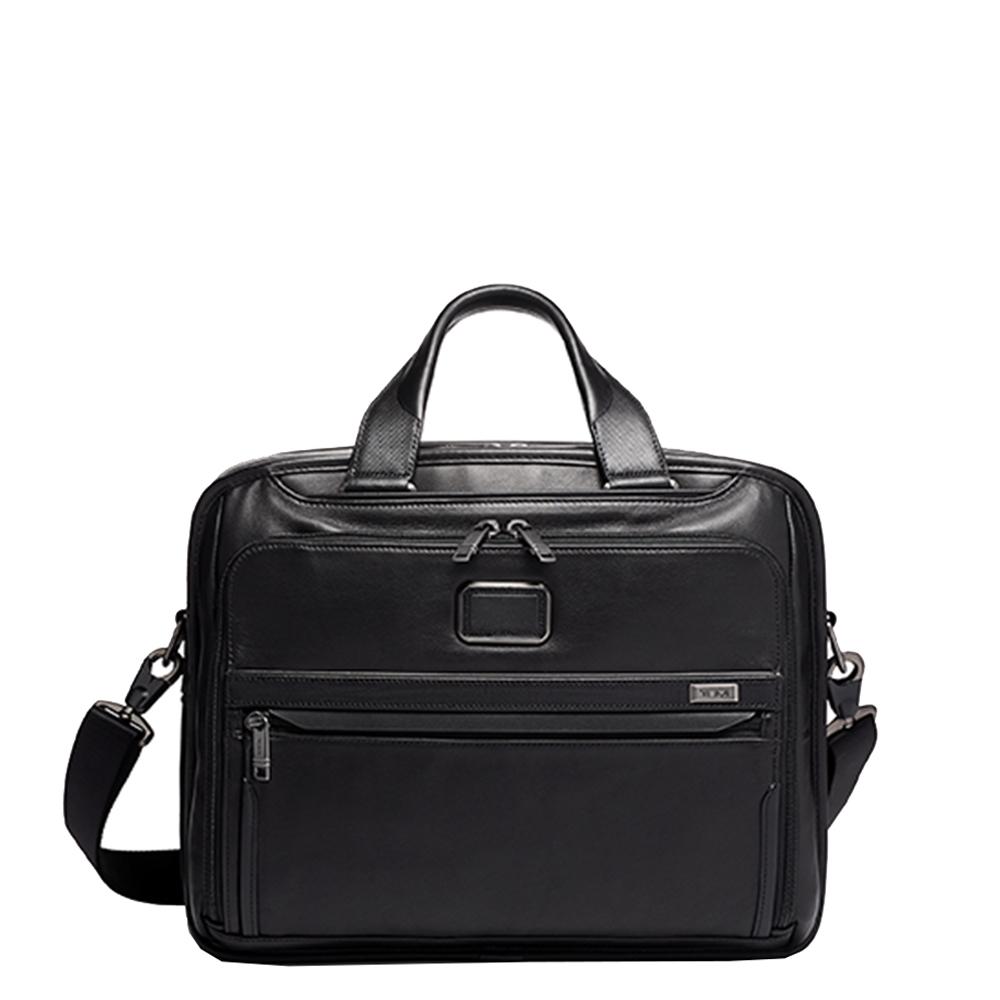 Tumi Alpha Organizer Brief Leather black <br/>€ 685.00 <br/> <a href='https://tc.tradetracker.net/?c=15082&m=779702&a=107398&u=https%3A%2F%2Fwww.travelbags.nl%2Ftumi-alpha-organizer-brief-leather-black.html' target='_blank'>Bestellen</a>