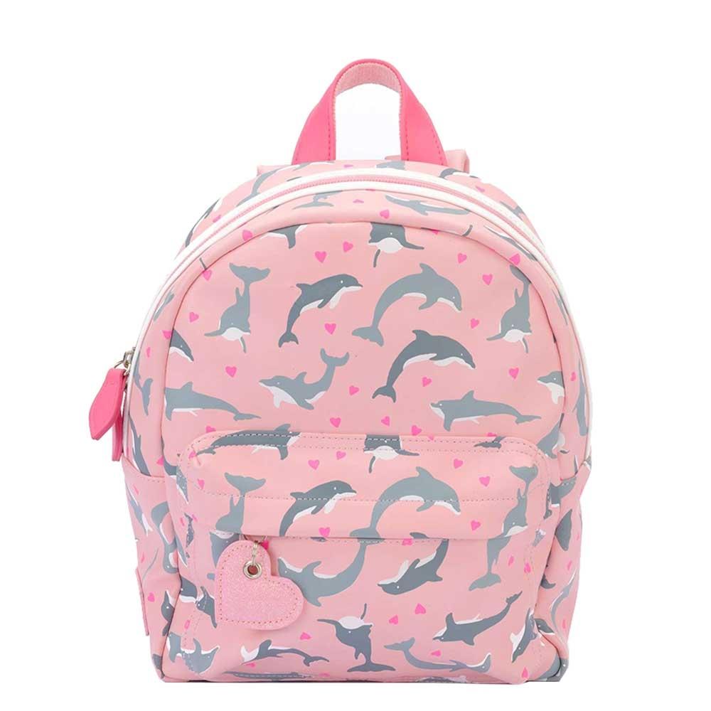 Zebra Trends Girls Rugzak S dolphins pink Kindertas