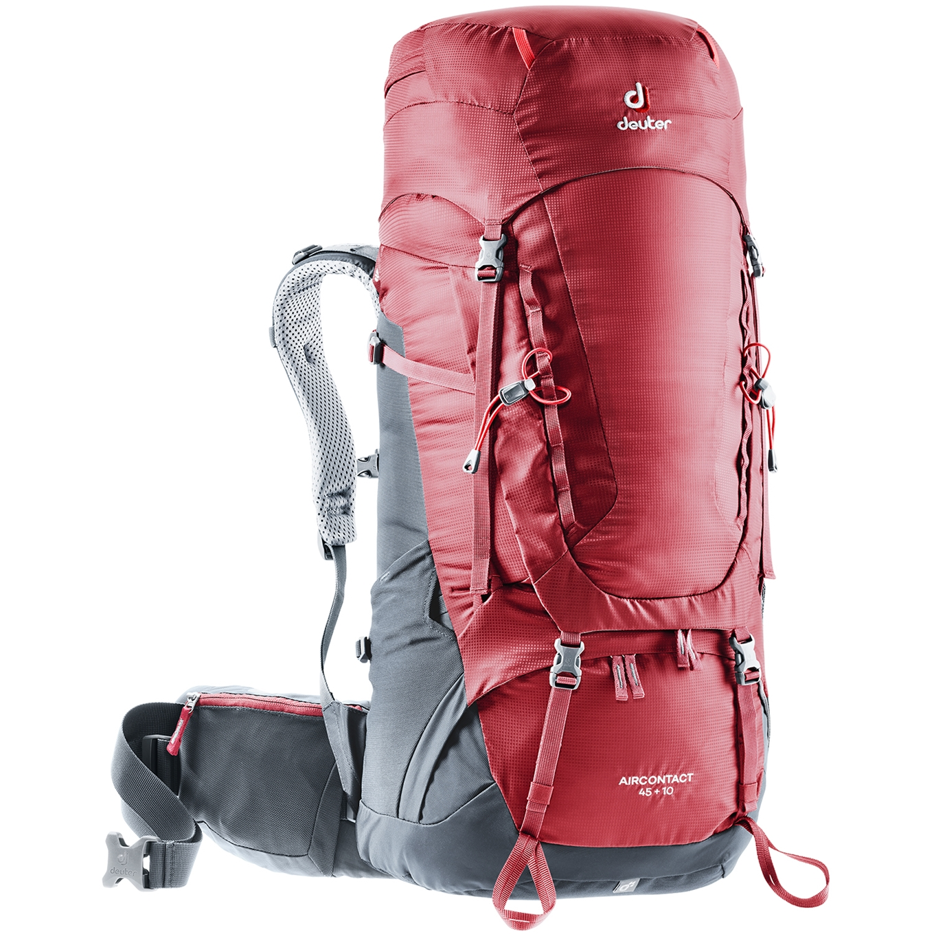 Deuter Aircontact 45 + 10 Backpack cranberry/graphite backpack