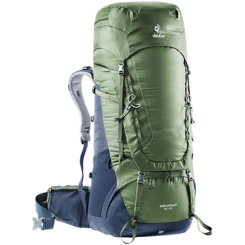 Deuter Aircontact 65 + 10 Backpack khaki/navy backpack <br/></noscript><img class=