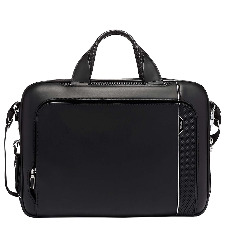 Tumi Arrivé Sadler Briefcase black <br/>€ 995.00 <br/> <a href='https://tc.tradetracker.net/?c=15082&m=779702&a=107398&u=https%3A%2F%2Fwww.travelbags.nl%2Ftumi-arrive-sadler-briefcase-black.html' target='_blank'>Bestellen</a>