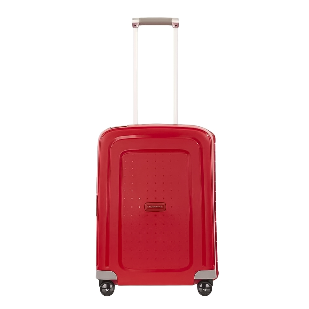 Samsonite S'Cure handbagage trolley spinner rood