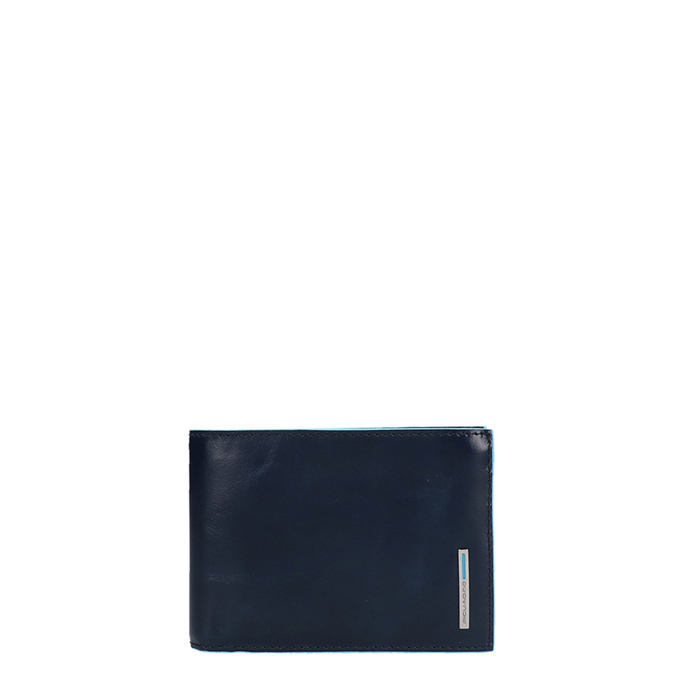 Piquadro Blue Square Mens Wallet with coin pocket night blue Heren portemonnee