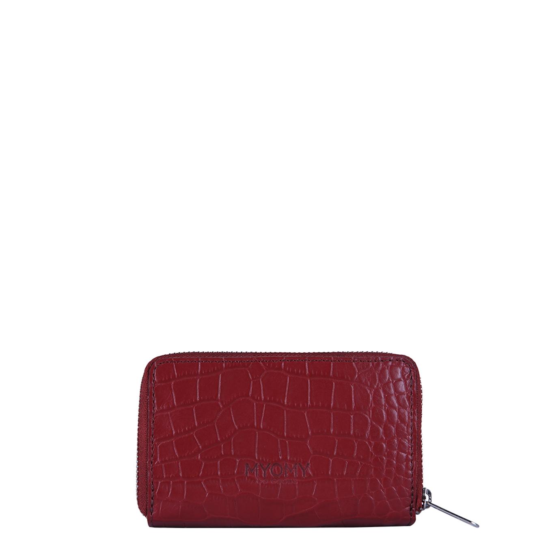 Myomy Paper Bag Wallet Medium RFID croco burgundy Dames portemonnee