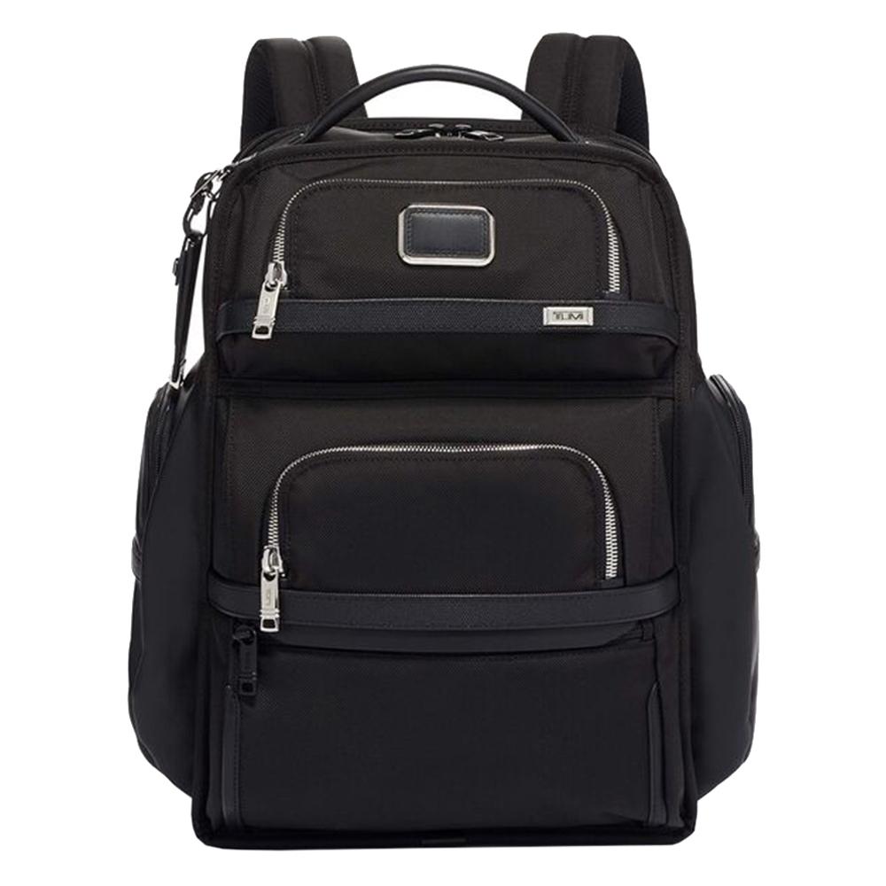 Tumi Alpha 3 Brief Pack black chrome backpack <br/>€ 695.00 <br/> <a href='https://tc.tradetracker.net/?c=15082&m=779702&a=107398&u=https%3A%2F%2Fwww.travelbags.nl%2Ftumi-alpha-3-brief-pack-black-chrome.html' target='_blank'>Bestellen</a>