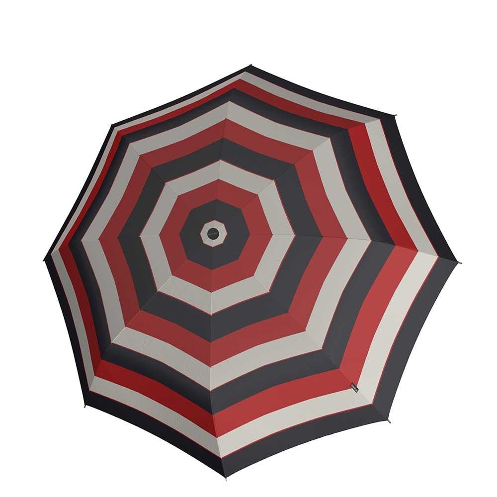 Knirps T-010 Small Manual Paraplu stripe red (Storm) Paraplu