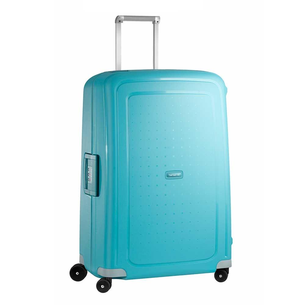 Samsonite S'Cure Spinner 75 aqua blue Harde Koffer