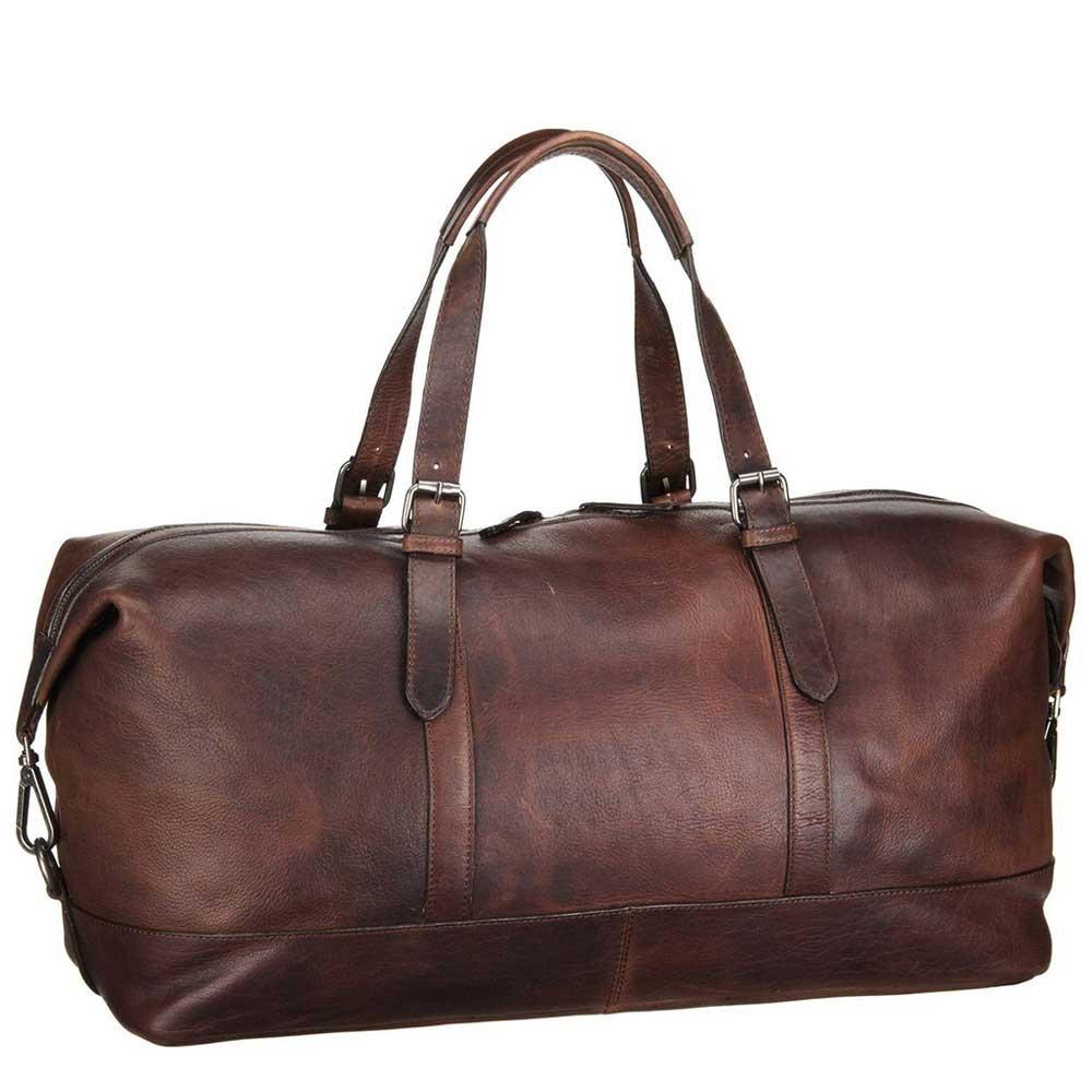 Leonhard Heyden Roma Travel Bag dark brown Weekendtas <br/></noscript><img class=