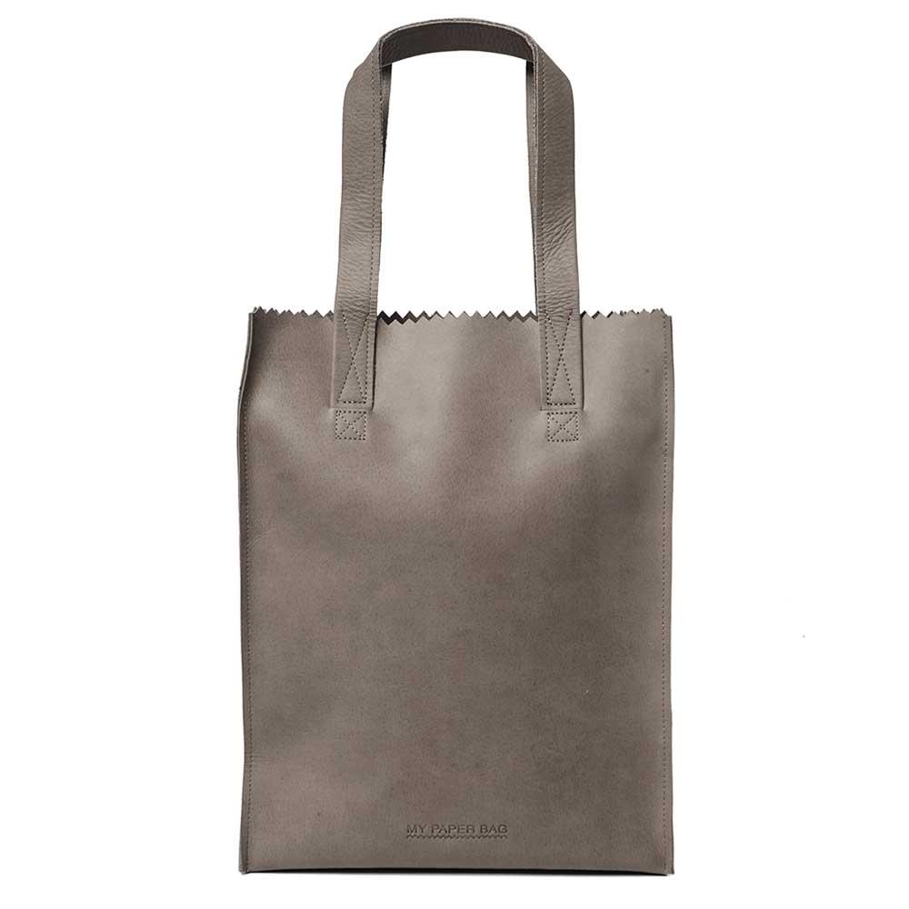 Myomy Paper Bag Long Handle Zip taupe