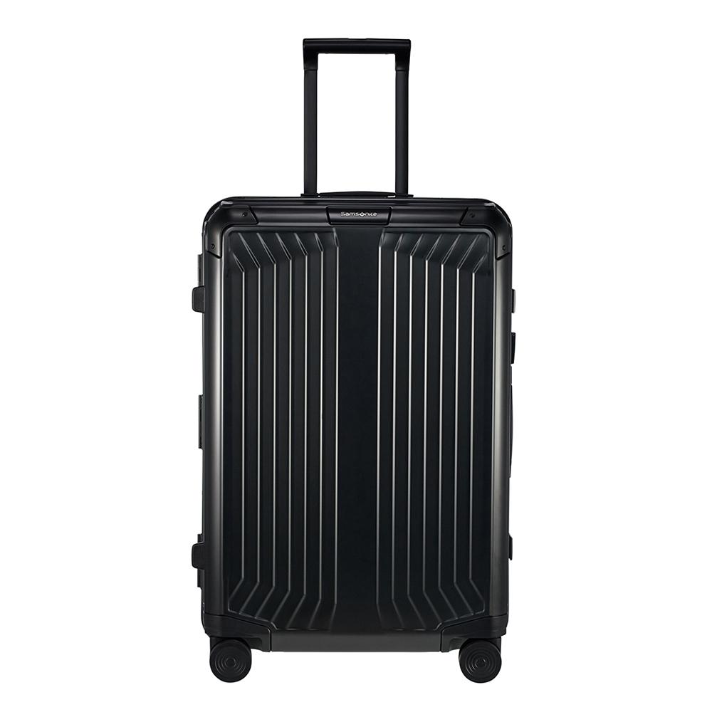Samsonite Lite-Box Alu Spinner 69 black Harde Koffer <br/></noscript><img class=