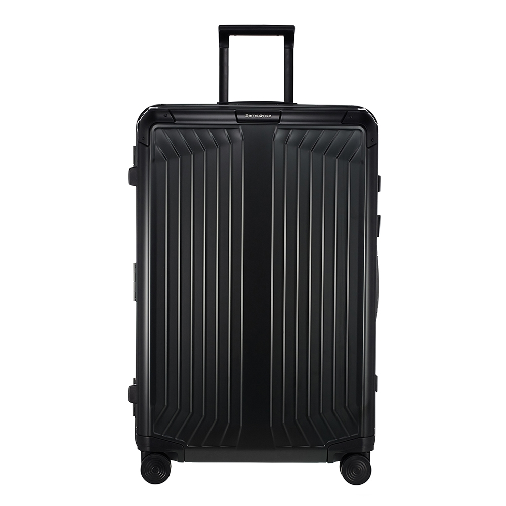 Samsonite Lite-Box Alu Spinner 76 black Harde Koffer <br/></noscript><img class=