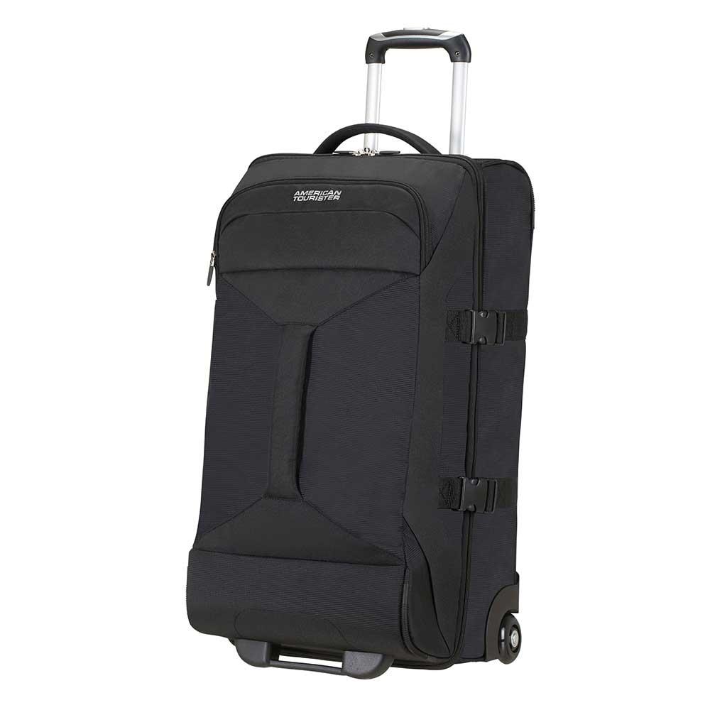American Tourister Road Quest 2 Compartments Duffle Wheels M solid black Reistas <br/></noscript><img class=