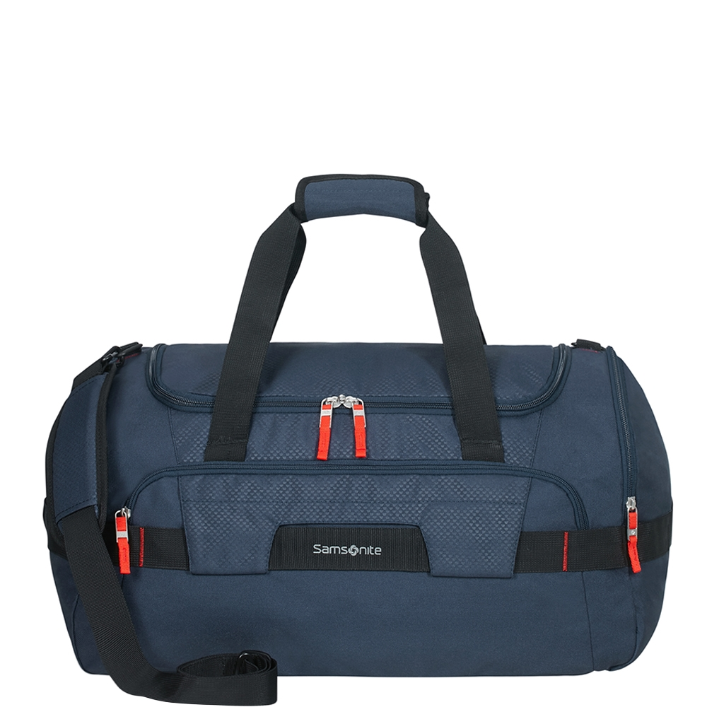Samsonite Sonora Duffle 55 night blue Weekendtas <br/>€ 79.00 <br/> <a href='https://tc.tradetracker.net/?c=15082&m=779702&a=107398&u=http%3A%2F%2Fwww.travelbags.nl%3A80%2Fsamsonite-sonora-duffle-55-night-blue.html' target='_blank'>Bestellen</a>