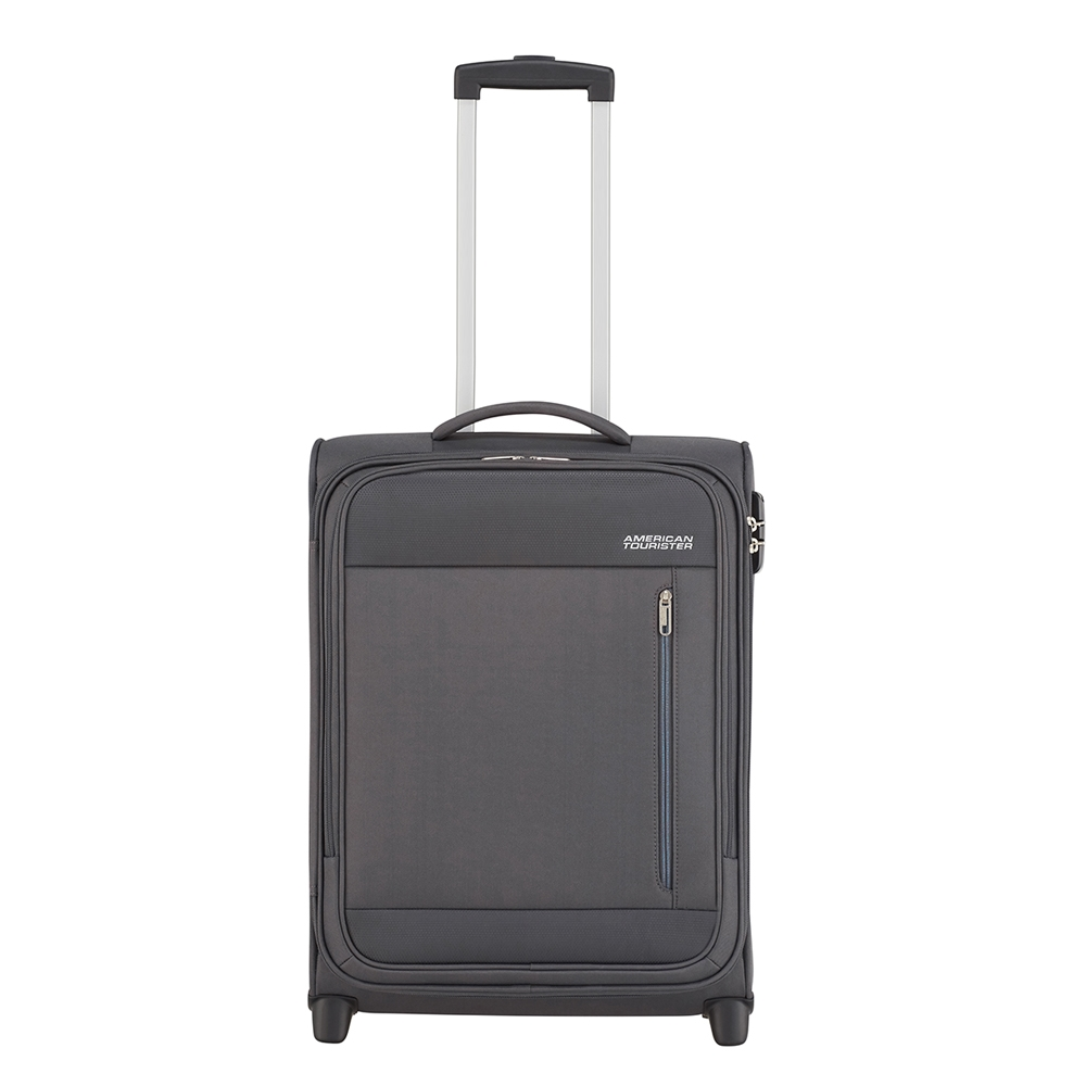 American Tourister Heat Wave Upright 55 charcoal grey Zachte koffer <br/></noscript><img class=