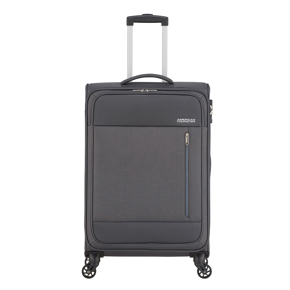 American Tourister Heat Wave Spinner 68 charcoal grey Zachte koffer <br/></noscript><img class=
