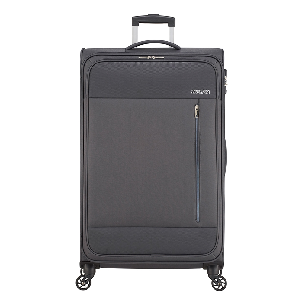 American Tourister Heat Wave Spinner 80 charcoal grey Zachte koffer <br/></noscript><img class=