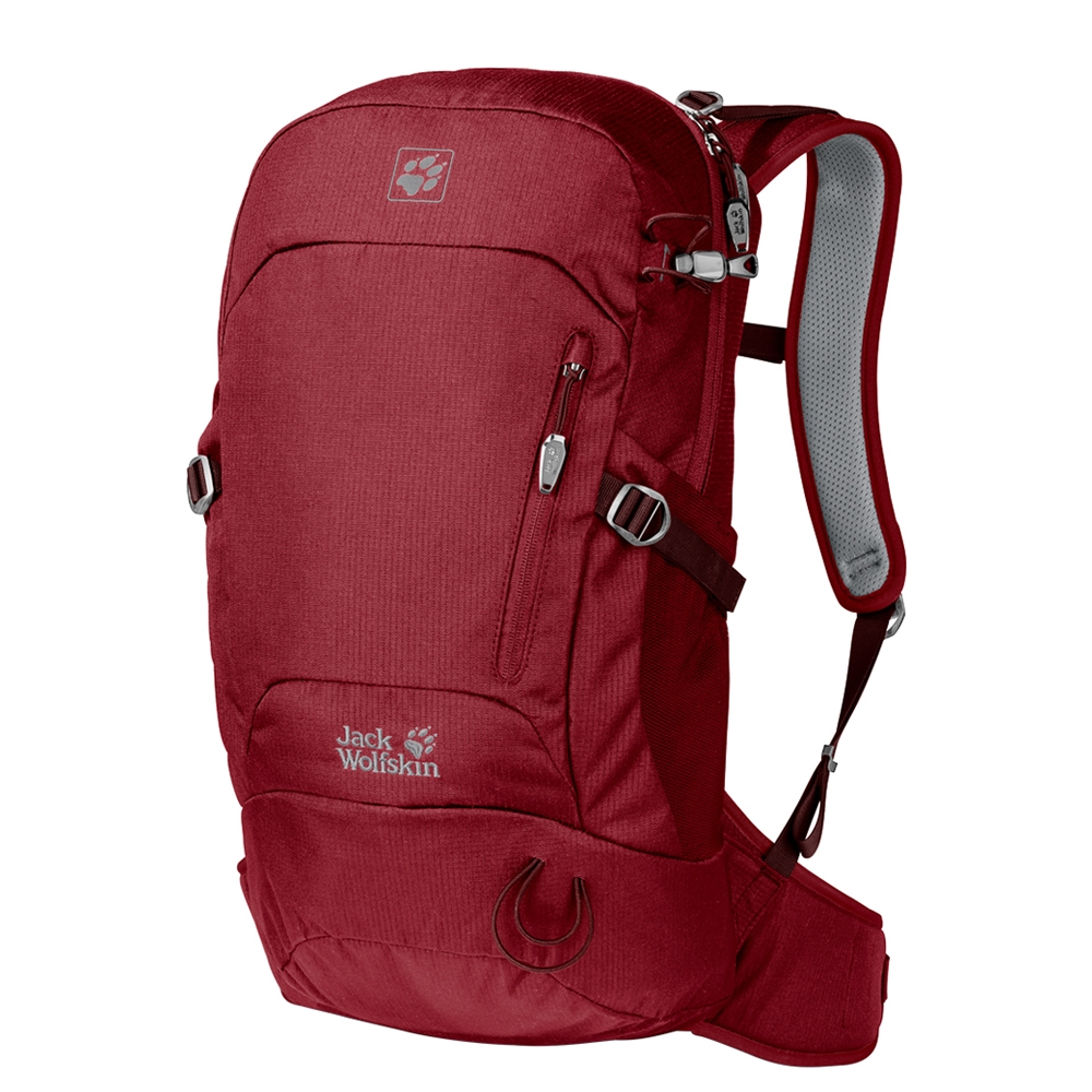 Jack Wolfskin Helix 20 Pack red maroon backpack