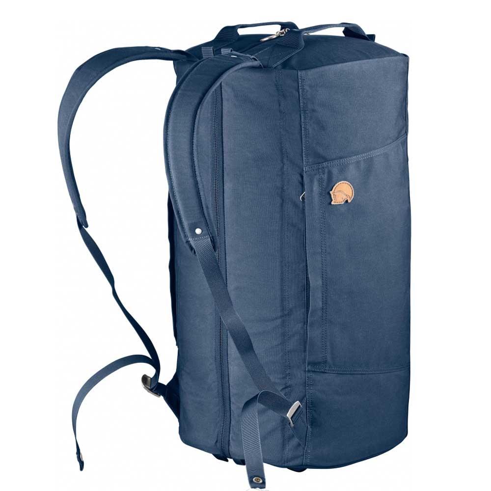 Fjallraven Splitpack Large Backpack / Duffel navy Weekendtas <br/>€ 189.00 <br/> <a href='https://tc.tradetracker.net/?c=15082&m=779702&a=107398&u=http%3A%2F%2Fwww.travelbags.nl%3A80%2Ffjallraven-splitpack-large-backpack-duffel-navy.html' target='_blank'>Bestellen</a>