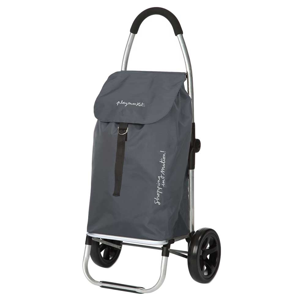 Playmarket Go Two Compact Boodschappentrolley grey Trolley