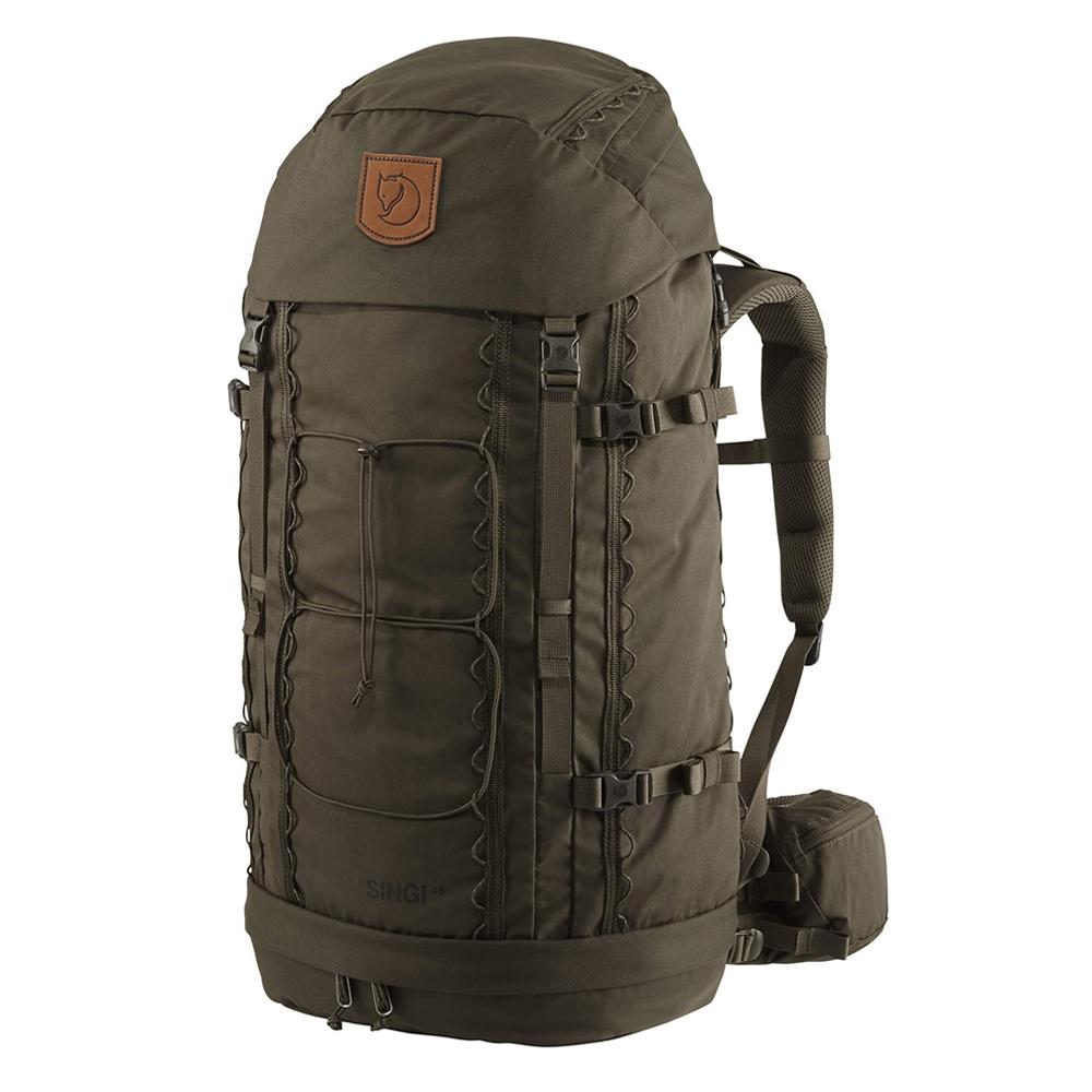 Fjallraven Singi 48 dark olive backpack <br/>€ 279.00 <br/> <a href='https://tc.tradetracker.net/?c=15082&m=779702&a=107398&u=http%3A%2F%2Fwww.travelbags.nl%3A80%2Ffjallraven-singi-48-dark-olive.html' target='_blank'>Bestellen</a>