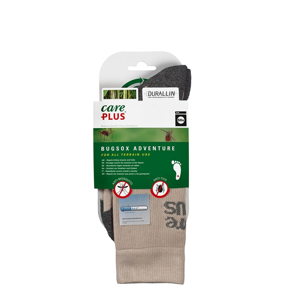 Care Plus Bugsox Adventure Geimpregneerde Sokken Maat 44-47 khaki - 1