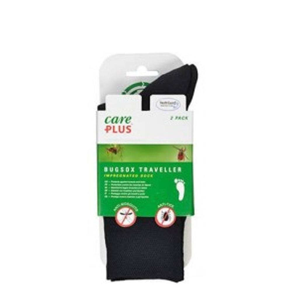 Care Plus Bugsox Traveller Geimpregneerde Sokken Maat 35-37 2-pack black - 1