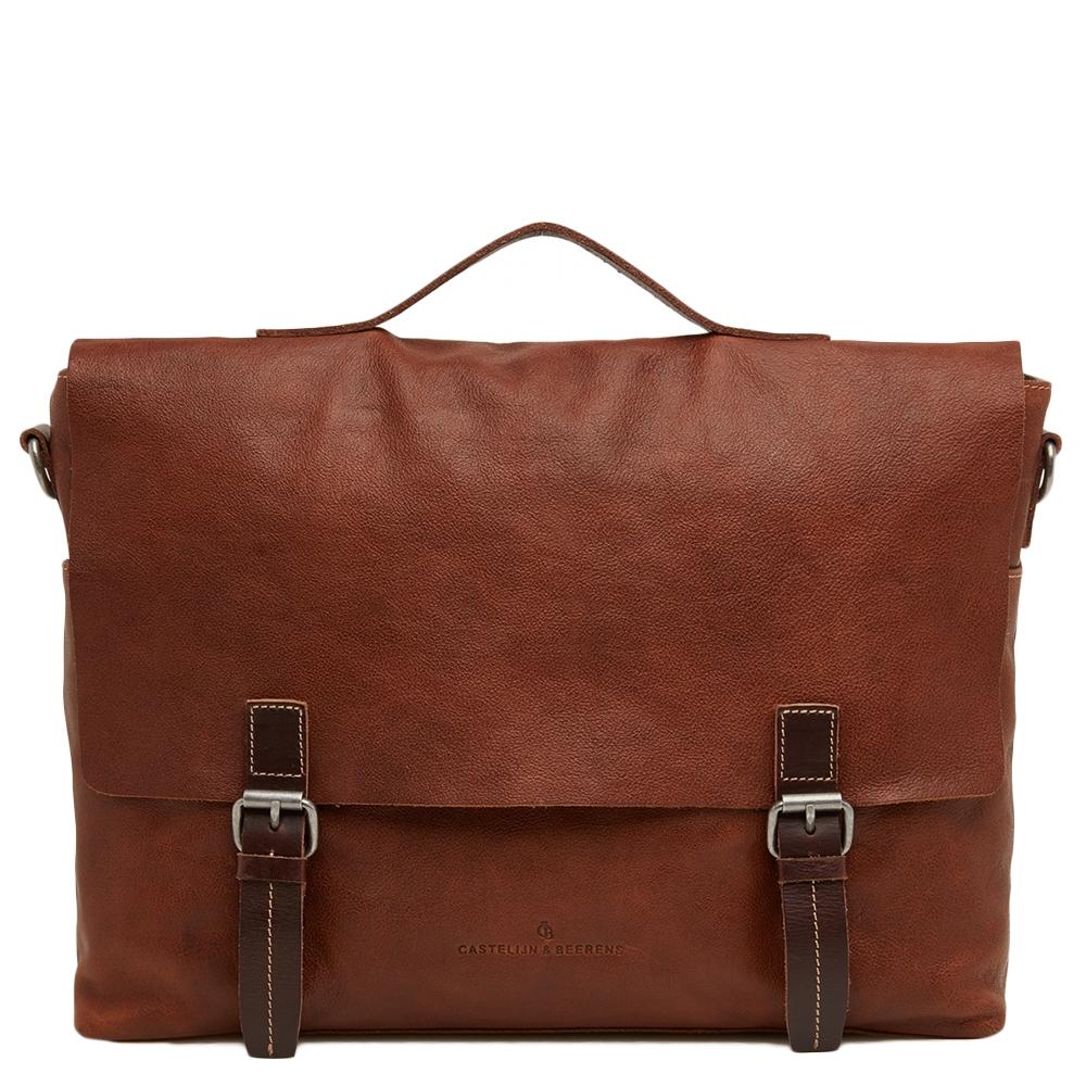 Castelijn & Beerens-Laptoptassen-Maurice Briefcase 15.6 Inch-Bruin