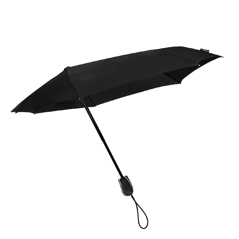 Impliva STORMini Aërodynamische Opvouwbare Stormparaplu zwart2 (Storm) Paraplu