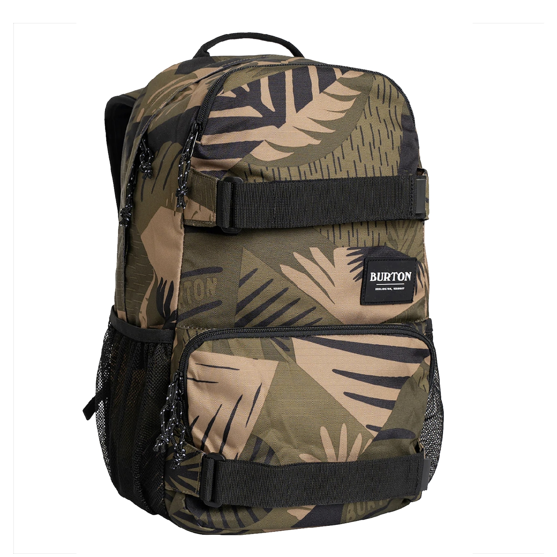 Burton Treble Yell Rugzak olive woodcut palm backpack
