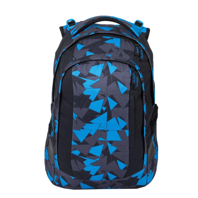 Satch Sleek School Rugzak blue triangle