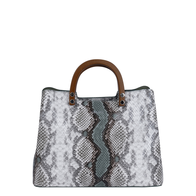 Inyati Inita Top Handle Bag green snake Damestas