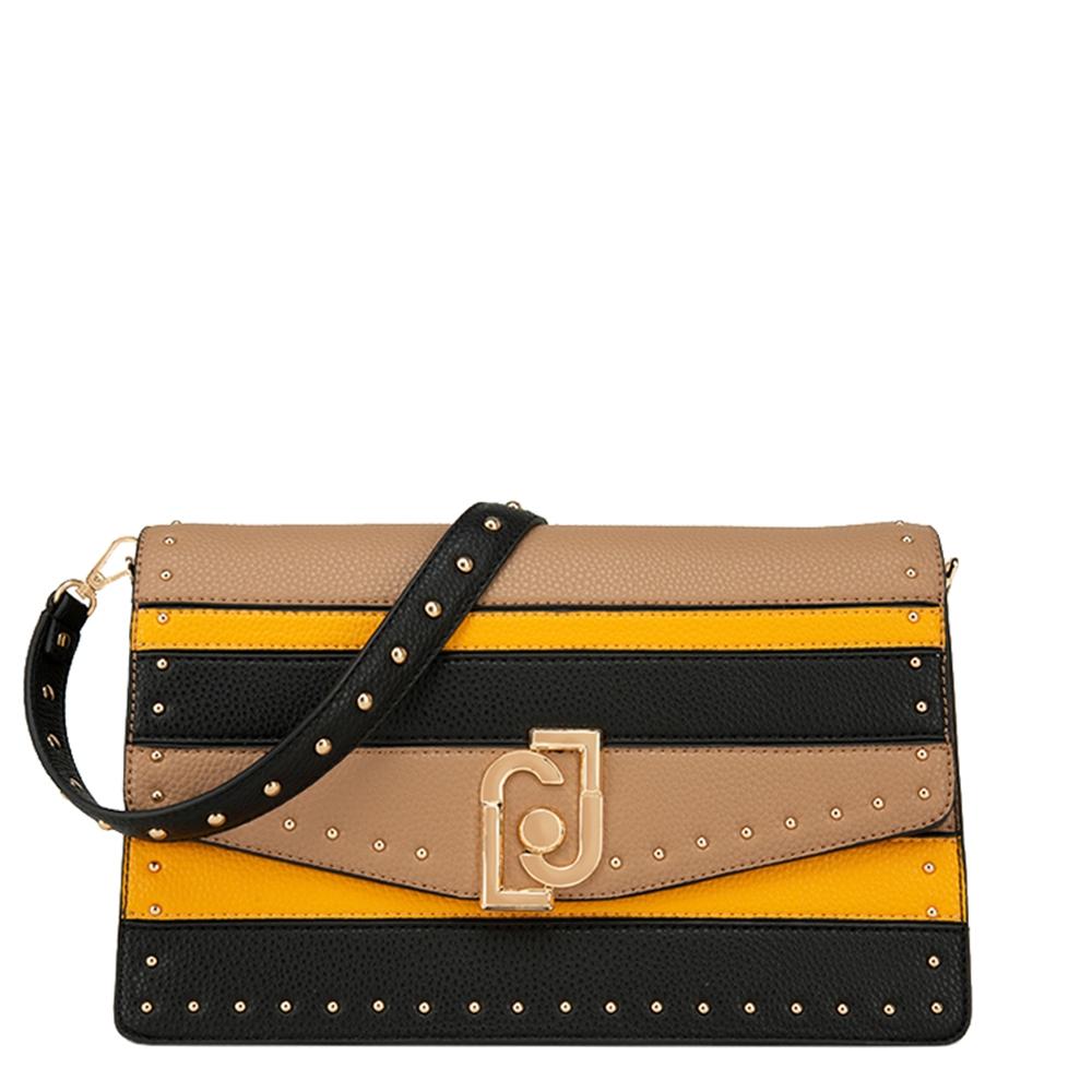 Liu Jo Crossbody Crossbody Bag M black / yellow / dovegrey Damestas