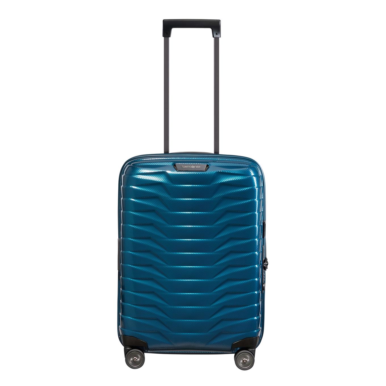 Samsonite Proxis Spinner 55 Expandable petrol blue Harde Koffer <br/></noscript><img class=