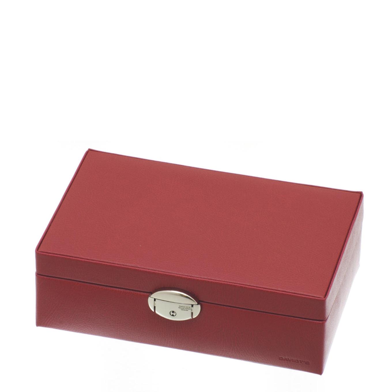 Davidts Juwelendoos Plat rood