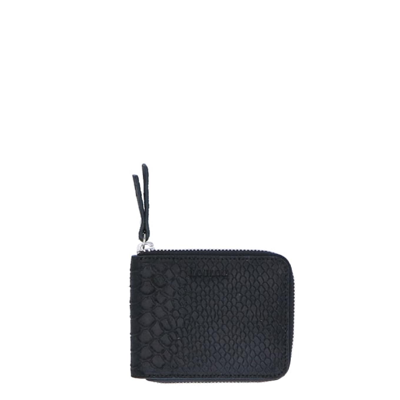 LouLou Essentials XS Sugar Snake black Dames portemonnee