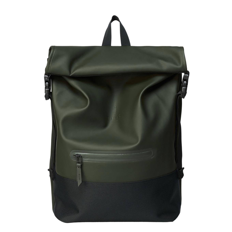 Rains Original Buckle Rolltop green backpack