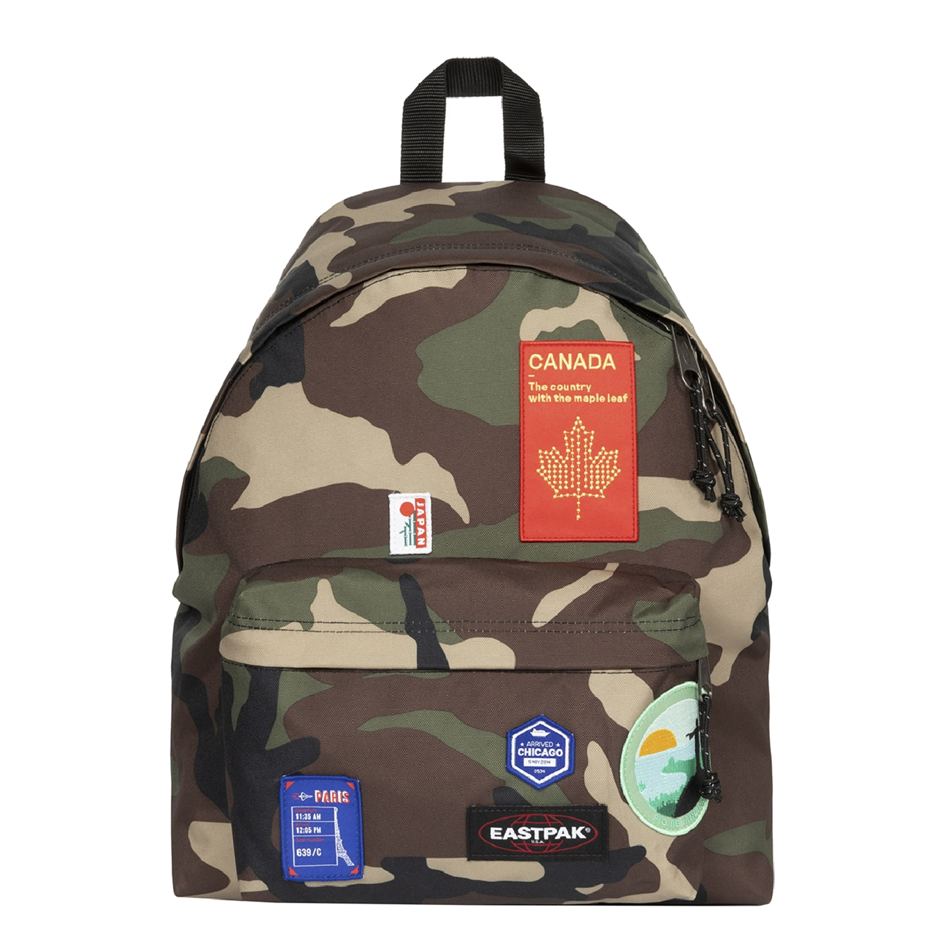 Eastpak Padded Pak'r Rugzak patched camo