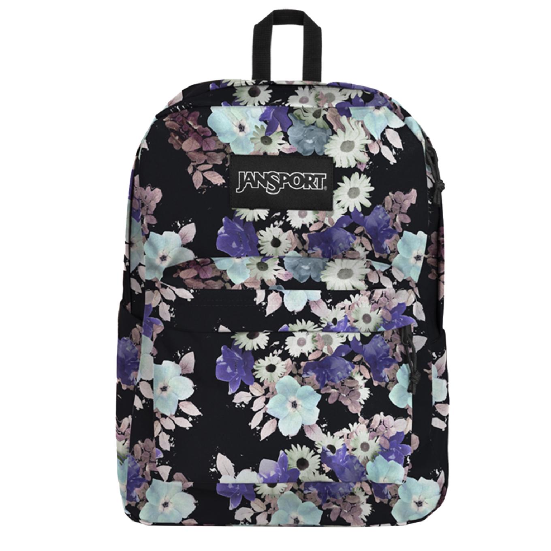 JanSport SuperBreak Plus Rugzak focal floral backpack