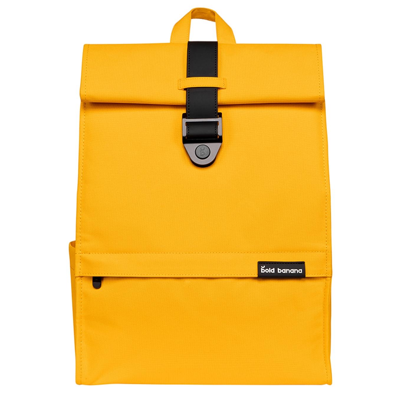 Bold Banana Roll Top Backpack yellow beetle backpack