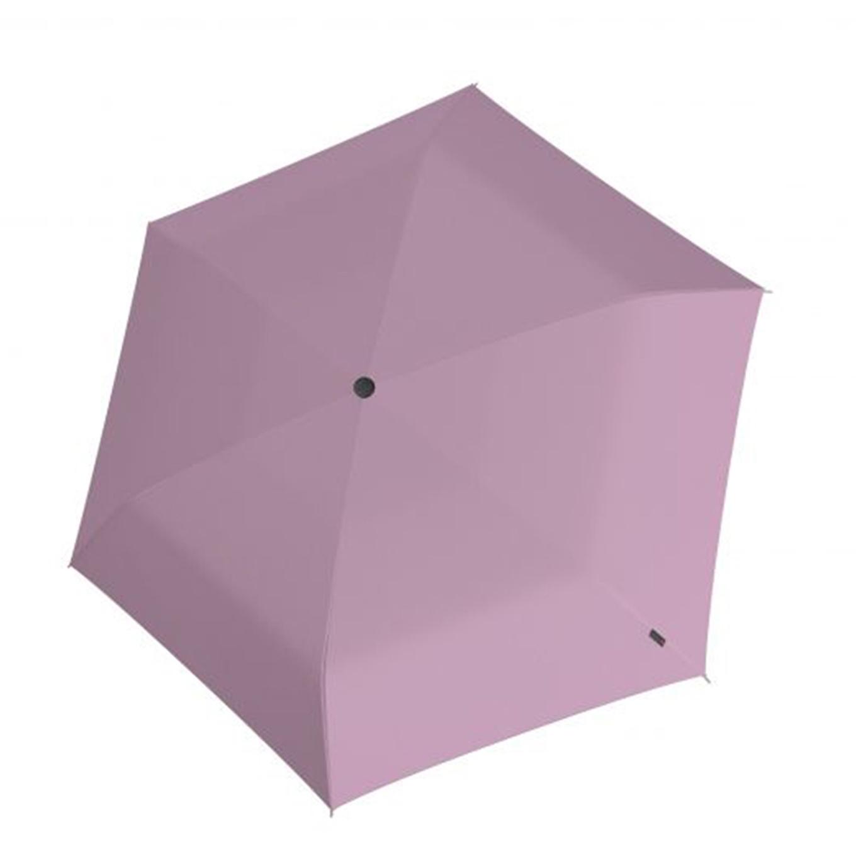 Knirps U.200 Ultra Light Duomatic Paraplu UV Protection rosé with black coating (Storm) Paraplu
