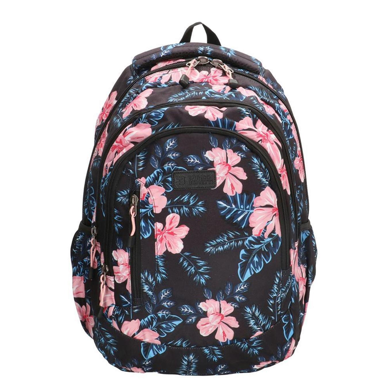 Enrico Benetti Capetown Rugtas 15'' zwart bloemen backpack