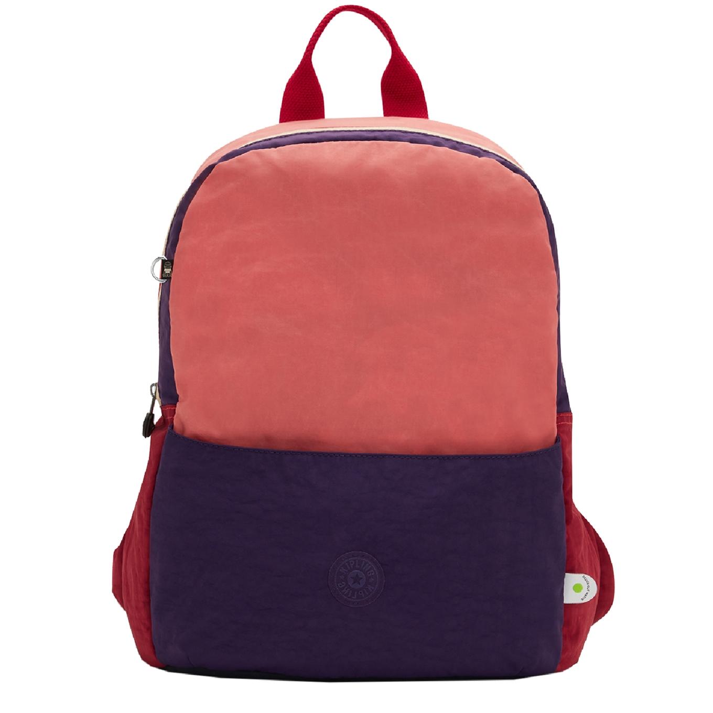 Kipling Sonnie Backpack coral purple block