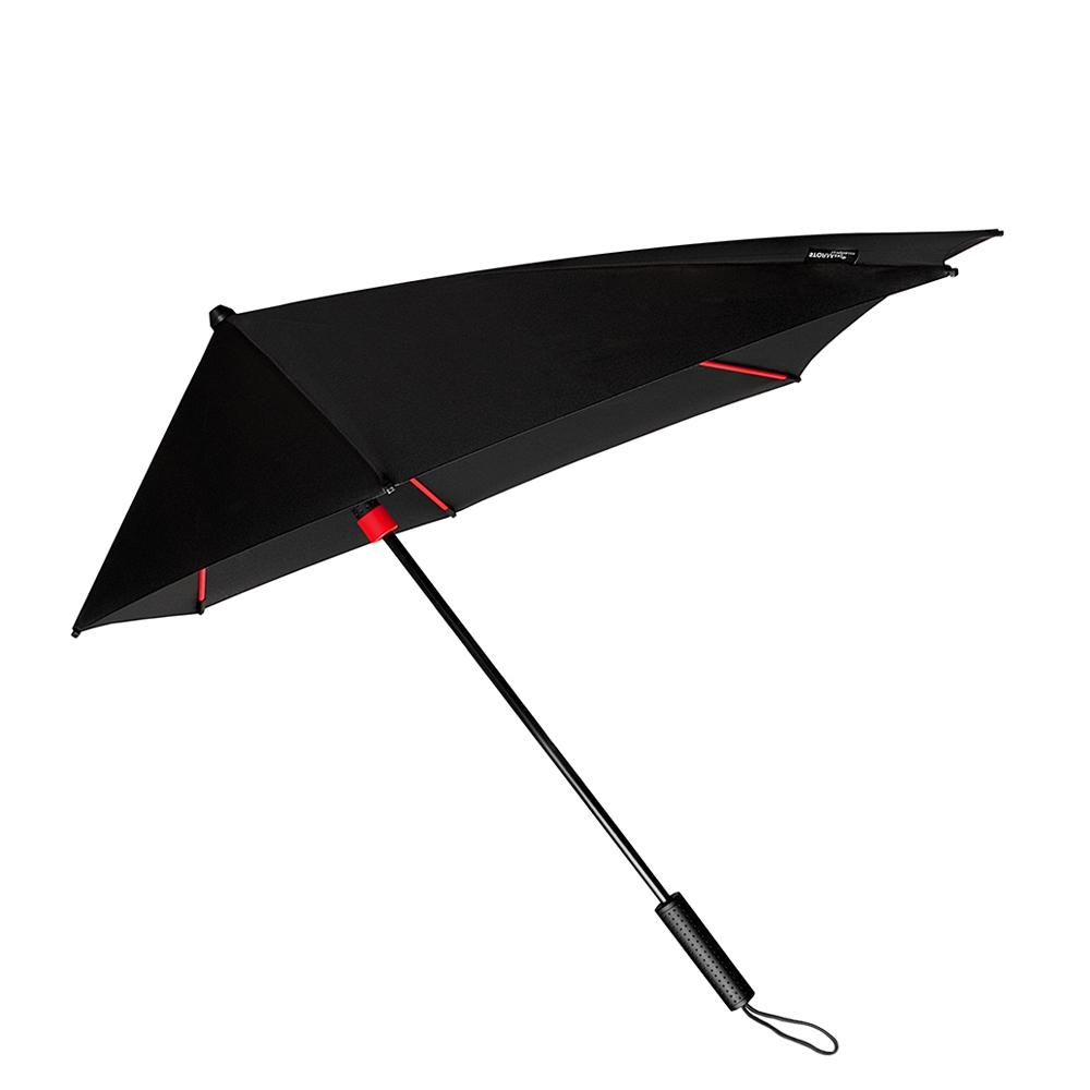 Impliva STORMaxi Aerodynamische Stormparaplu Special Edition zwart - rood (Storm) Paraplu