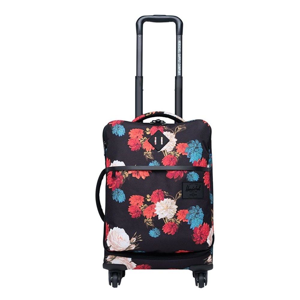 Herschel Supply Co. Highland Carry-On Trolley Vintage Floral Black Zachte koffer