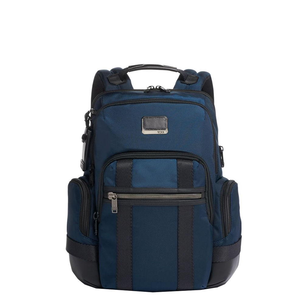Tumi Alpha Bravo Nathan Backpack navy backpack <br/>€ 395.00 <br/> <a href='https://tc.tradetracker.net/?c=15082&m=779702&a=107398&u=https%3A%2F%2Fwww.travelbags.nl%2Ftumi-alpha-bravo-nathan-backpack-navy.html' target='_blank'>Bestellen</a>